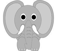Elephant Trunk Down Design Photographic Print