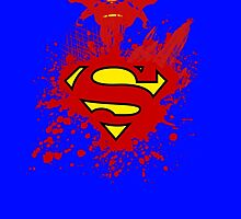 superman splater by largebreed