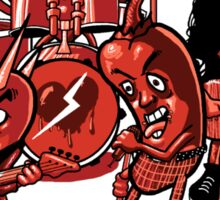 Angry Hearts Club Band Sticker