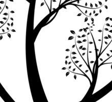 Art tree silhouette  Sticker