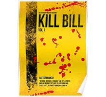 Kill Bill - Vol. I minimal movie poster Poster