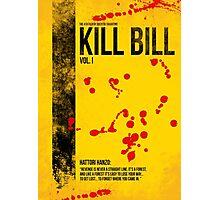 Kill Bill - Vol. I minimal movie poster Photographic Print