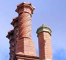 Hodsock Priory Chimneys by Audrey Clarke
