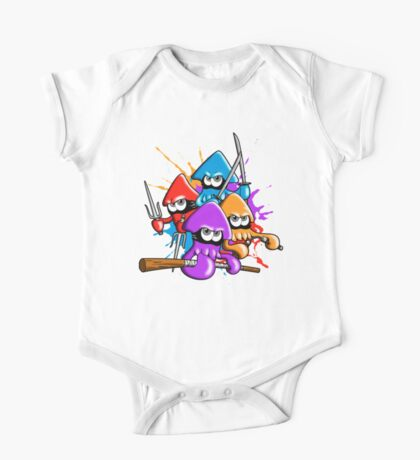 Teenage splatter ninja squids. One Piece - Short Sleeve