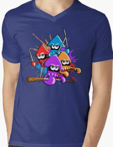 Teenage splatter ninja squids. Mens V-Neck T-Shirt
