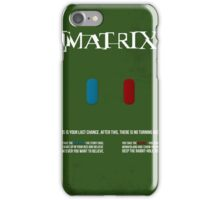 Matrix - minimal movie poster iPhone Case/Skin