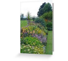 Formal garden, Devon Greeting Card