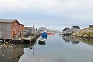 Quiet before The Storm - Peggy's Cove by Barbara Burkhardt