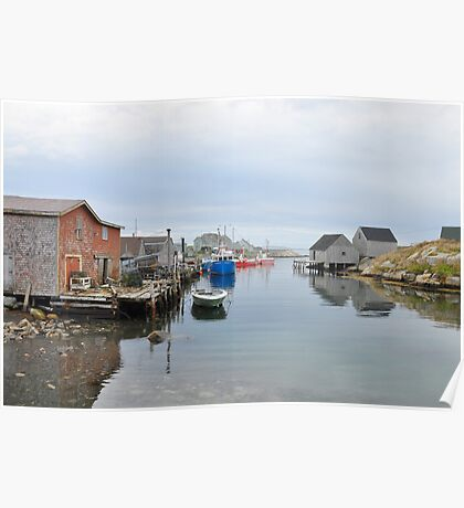 Quiet before The Storm - Peggy's Cove Poster