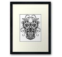 Mirror skull Framed Print