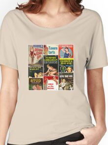 Pulp Fiction Cover Collage Women's Relaxed Fit T-Shirt