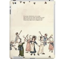 Under the Window Pictures and Rhymes for Children Edmund Evans and Kate Greenaway 1878 0037 Shuttlecocks iPad Case/Skin