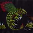 The dragon flames the west wood by Hilary Robinson