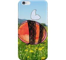 Orange Inky Bumble Bee iPhone Case/Skin