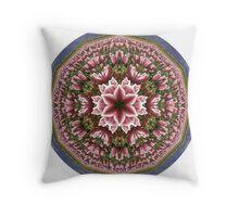Tulip Farm Kaleidoscope Throw Pillow