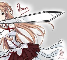 Asuna (SAO) Fanart by Roisin Bent