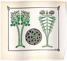 Maurice Verneuil Georges Auriol Alphonse Mucha Art Deco Nouveau Patterns Combinaisons Ornementalis 0048 Poster