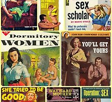Pulp Novel Bad Girls Collage by Jen  Talley