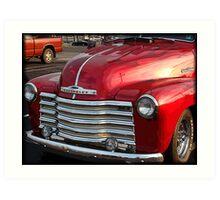 Red Chevy Art Print