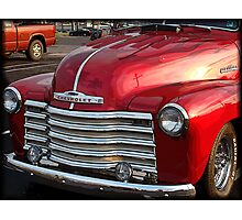 Red Chevy Photographic Print