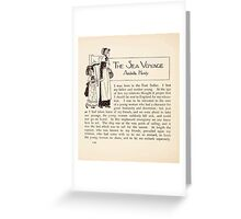 Mrs Leicester's School Charles & Mary Lamb with Minifred Green 18xx 0170 The Sea Voyage Greeting Card