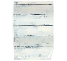 White Wooden Wall  Poster