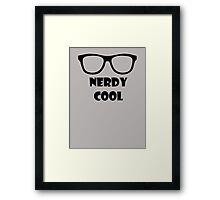 Nerdy Cool Framed Print