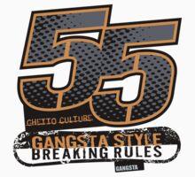 55 Gangsta Style T-Shirt by jay007