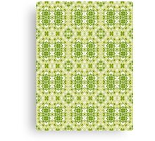 Shades of Green Abstract Design Pattern Canvas Print