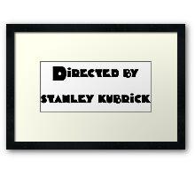 Directed By Stanley Kubrick (orange) Framed Print