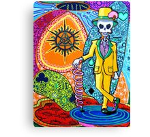 Skull with suit Canvas Print
