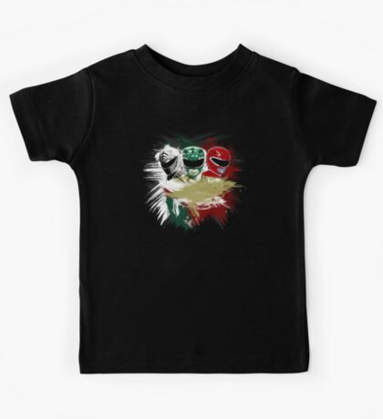White,Green,Red Rangers Kids Tee