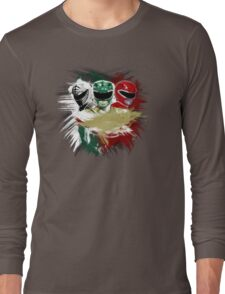 White,Green,Red Rangers Long Sleeve T-Shirt