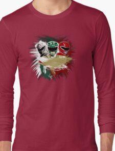 White,Green,Red Rangers Long Sleeve T-Shirt