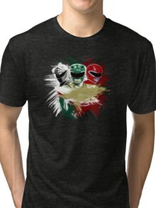 White,Green,Red Rangers Tri-blend T-Shirt