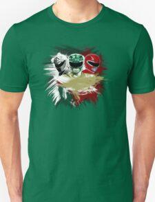 White,Green,Red Rangers Unisex T-Shirt