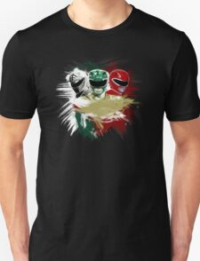 White,Green,Red Rangers T-Shirt
