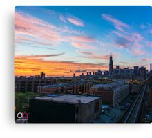 Chicago skyline view from the south Canvas Print