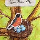 Happy Mothers Day (Red Robin) by Carrie Jackson
