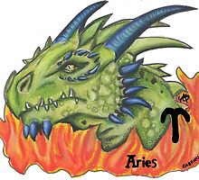 Aries the dragon by gabbyloscalzo