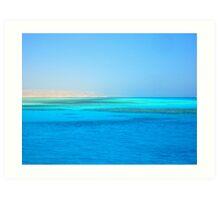 The Blue Red Sea Art Print