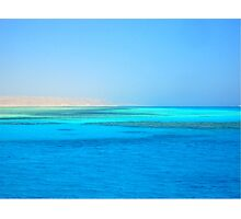 The Blue Red Sea Photographic Print