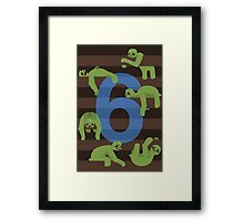 Six Slovenly Sloths Framed Print