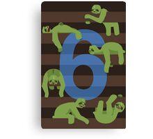 Six Slovenly Sloths Canvas Print