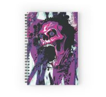 Wicked Skull With Paint Splatters Spiral Notebook