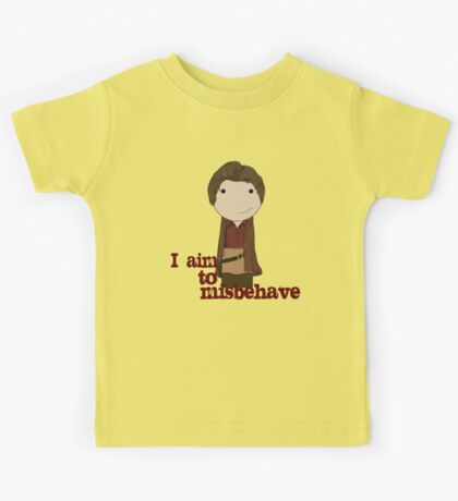Aim to Misbehave Kids Tee
