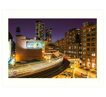 "The ""L"" train at the Loop Art Print"