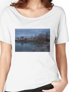 Calm, Pink Morning - Lake Ontario in Toronto Women's Relaxed Fit T-Shirt