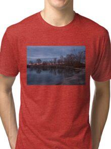Calm, Pink Morning - Lake Ontario in Toronto Tri-blend T-Shirt