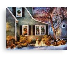 Christmas - A family moment - painted Canvas Print